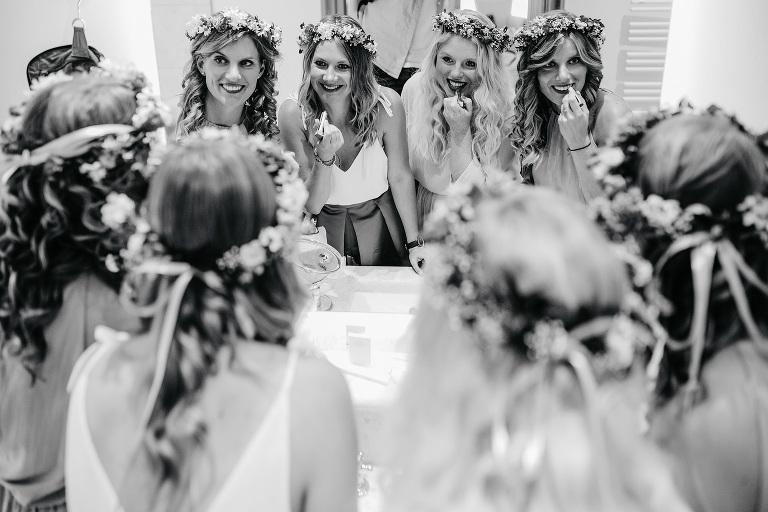 Hochzeit mit Brautjungfern